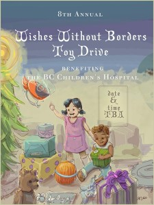 Wishes Without Borders – Toy Drive poster illustration