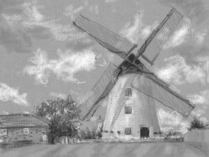 Basic Shapes and Tone via 3DS Art Academy – Windmill Drawing