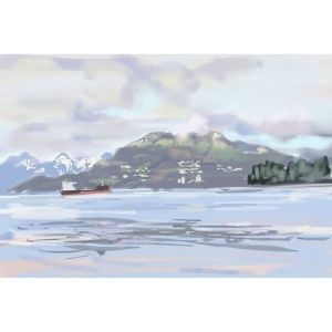 Kits Beach – Note 3 Painting