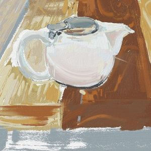 Painting: Diffused Neutral Light Teapot