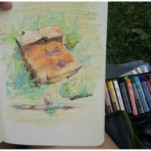 Mount Royal Rock Pastel Drawing – Value Study