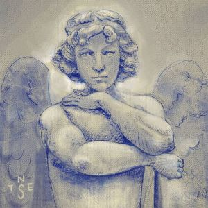 Drawing Practise: Angel Statue