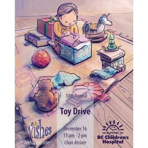Illustration: Wishes Without Borders Toy Drive Poster 2016