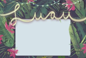 Illustration + Design: 3-0 Luau Photobooth Frame