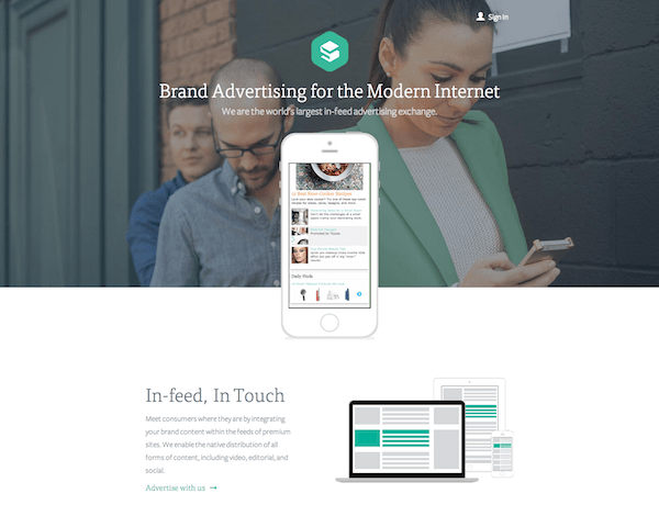 Sharethrough The In Feed Ad Exchange