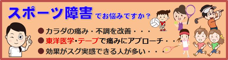 駒川中野のスポーツ障害の接骨院の紹介バナー