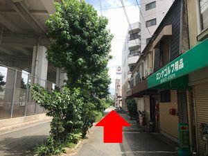 田辺駅から中橋整骨院へのルートの図9