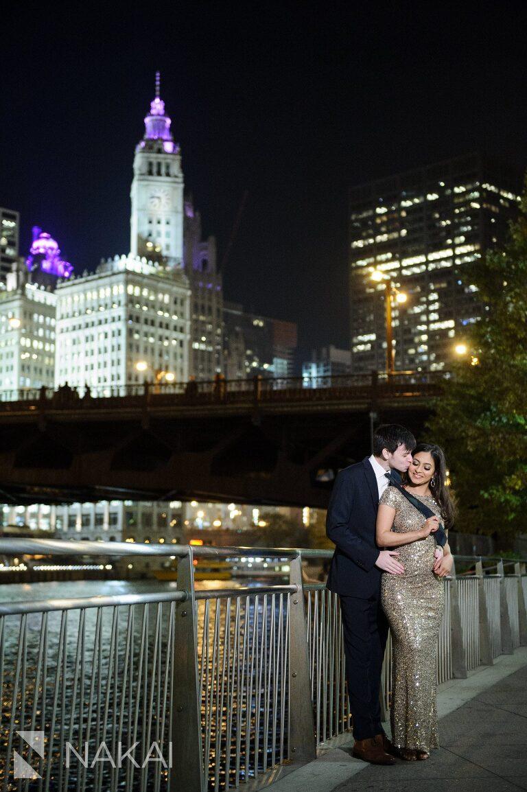 Adler Planetarium Northerly Island Riverwalk Chicago Engagement Photos Chicago Wedding