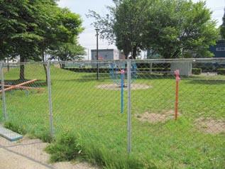 施工箇所に隣接する公園