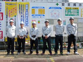 左から 中山社長、十鳥さん、宮川さん、高橋さん、 鈴木さん、阿部さん