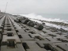 とても波が高く荒れていました