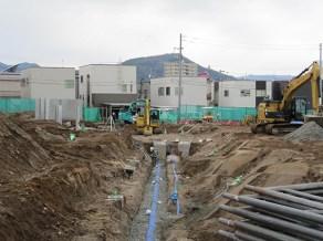 下水道工現場の様子