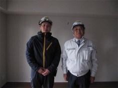 左から奥井主任、中山社長