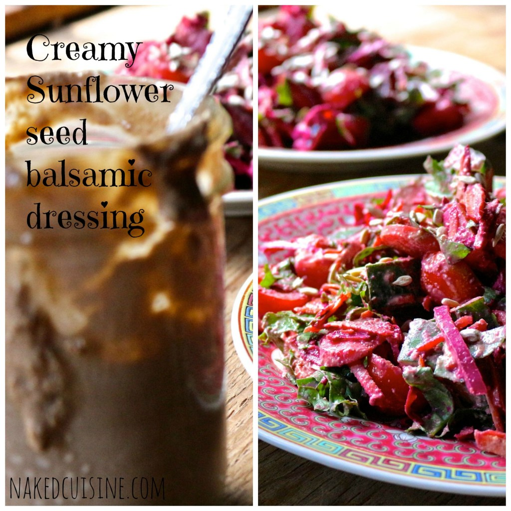 creamy balsamic sunflower seed dressing