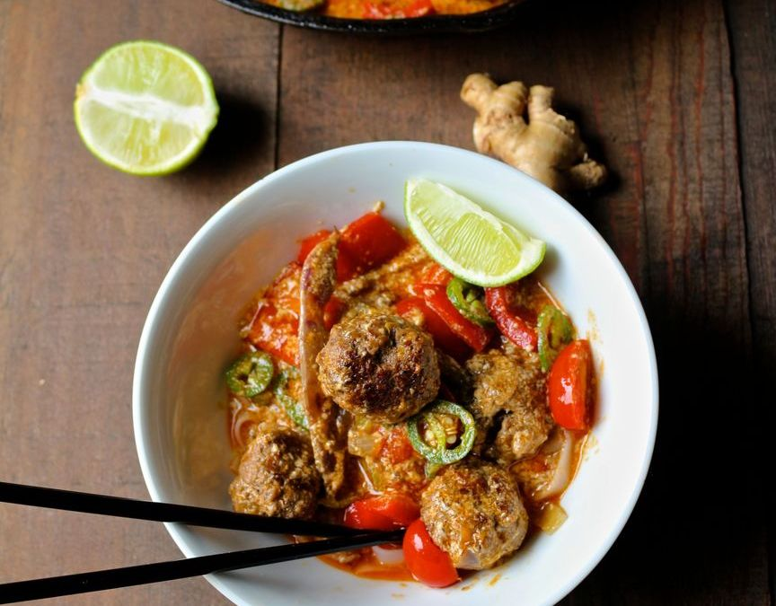 Red Thai Meatball Curry