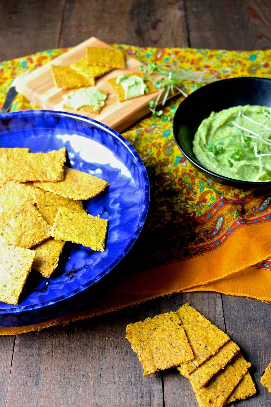 paleo vegan crackers and cheese