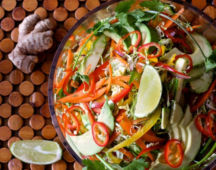 Shaved Brussels Pad Thai Salad