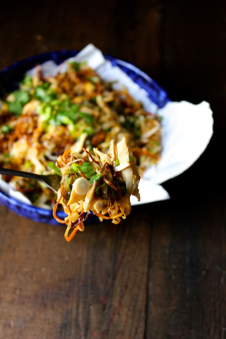 Spicy Chicken Poutine with Homemade Shoestring Fries