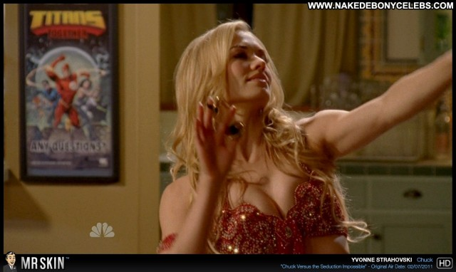 Yvonne Strahovski Chuck Celebrity Small Tits Sensual Blonde Sultry