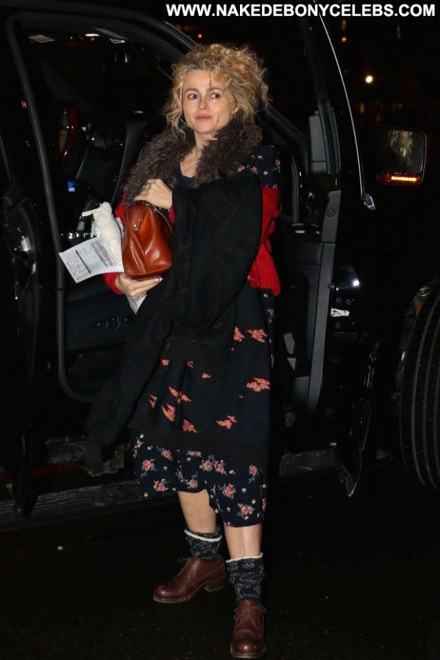 Helena Bonham Carter New York Posing Hot Paparazzi Car Beautiful Babe