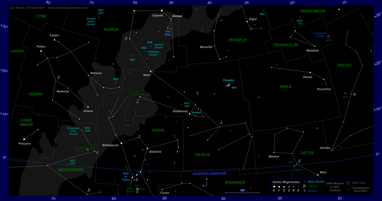 hight resolution of star map showing the zodiac constellations aries taurus and gemini plus surrounding constellations click