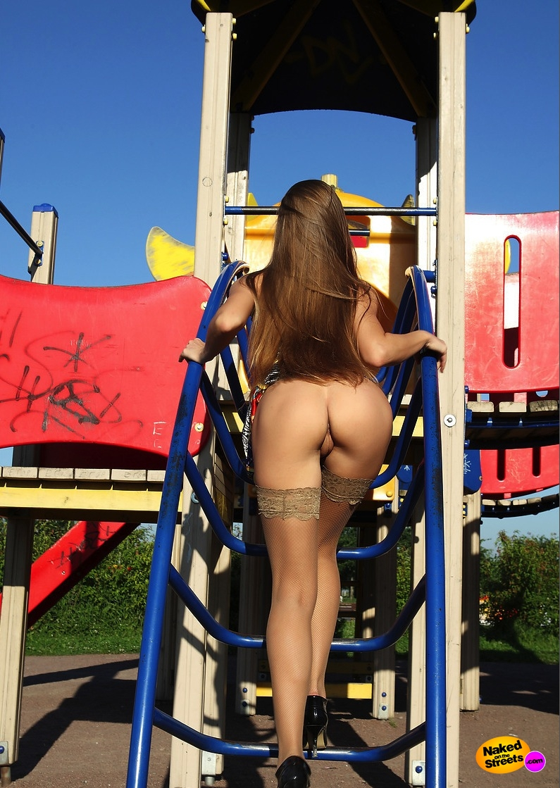 Fuck me in the playground baby  NakedOnTheStreetscom