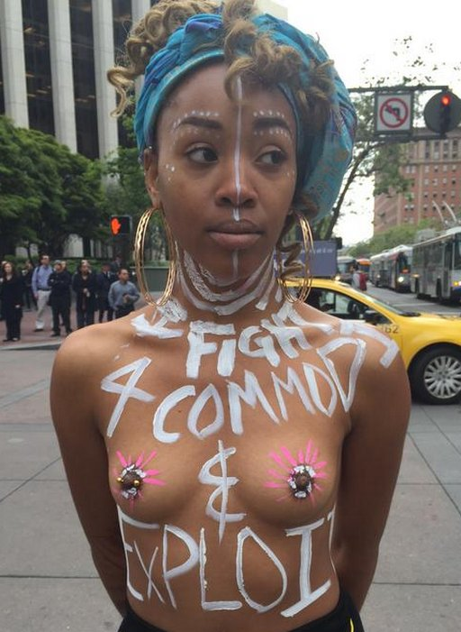 Pretty Nude Protester