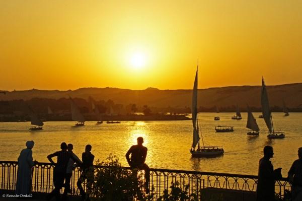Sunset in Aswan, Egypt
