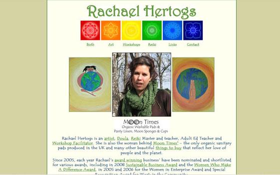 Rachael Hertogs site by www.nakedwebsite.co.uk