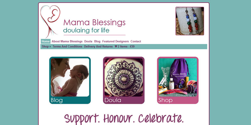 Mama Blessings site by Naked Website