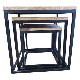 Koffietafel set van 3 vierkant