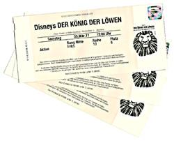 Eintrittskarten zum König der Löwen Musical