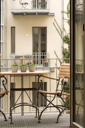 Apartment Berlin - Balkon