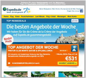 Expedia Screenshot