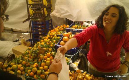 Orangen auf dem Markt