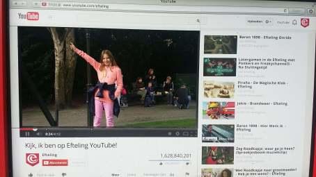 YouTube Tafel im Park
