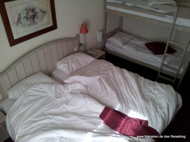 Unser Schlafzimmer im Hotel Kyriad Paris