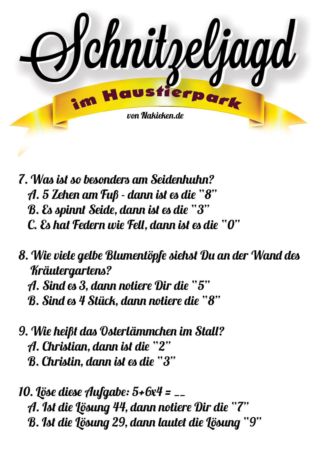 Anleitung Schnitzeljagd