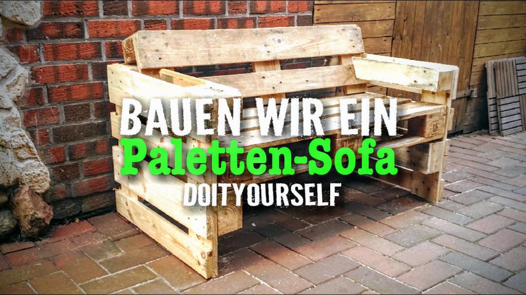 Anleitung: Paletten-Sofa für den Garten selbst gebaut