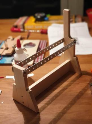 Holzrahmenkonstruktion mit Lochblech