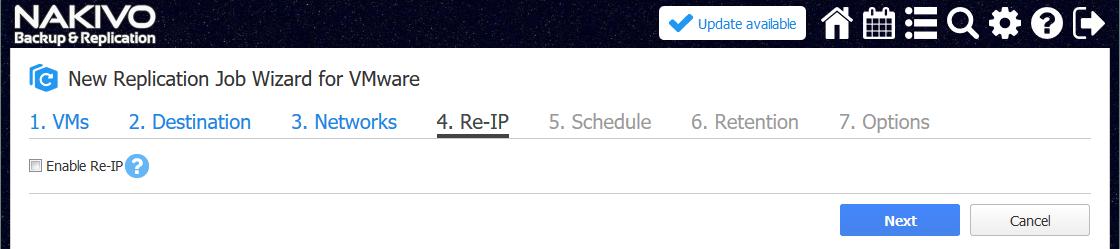 Re-IP options