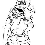 Pirát - omalovánka