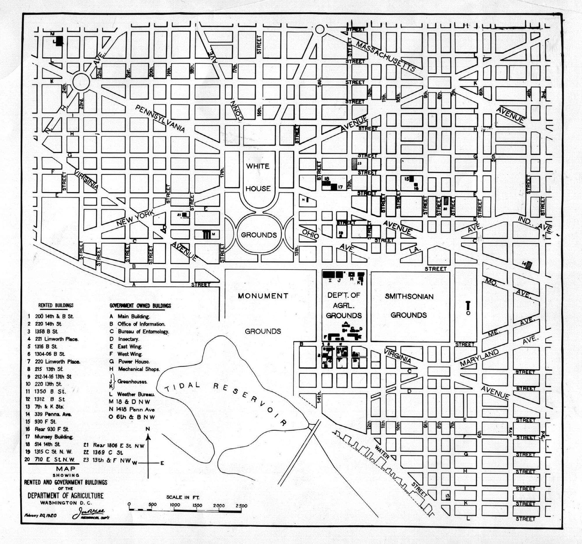 hight resolution of 1920 map washington dc