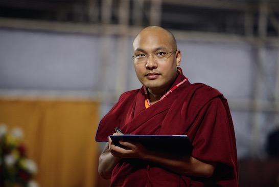 HH-Karmapa-Seattle-2015-With Laptop-SM-Filip Wolak Photography