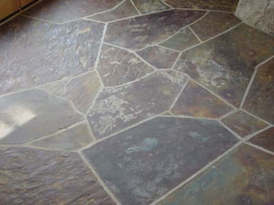 stone kitchen flooring teal rugs options for natural and bathroom nalboor