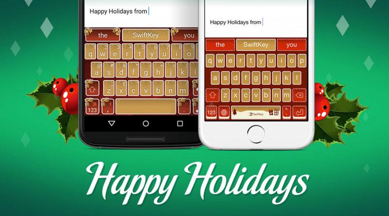 Swiftkey тема праздничных подарков