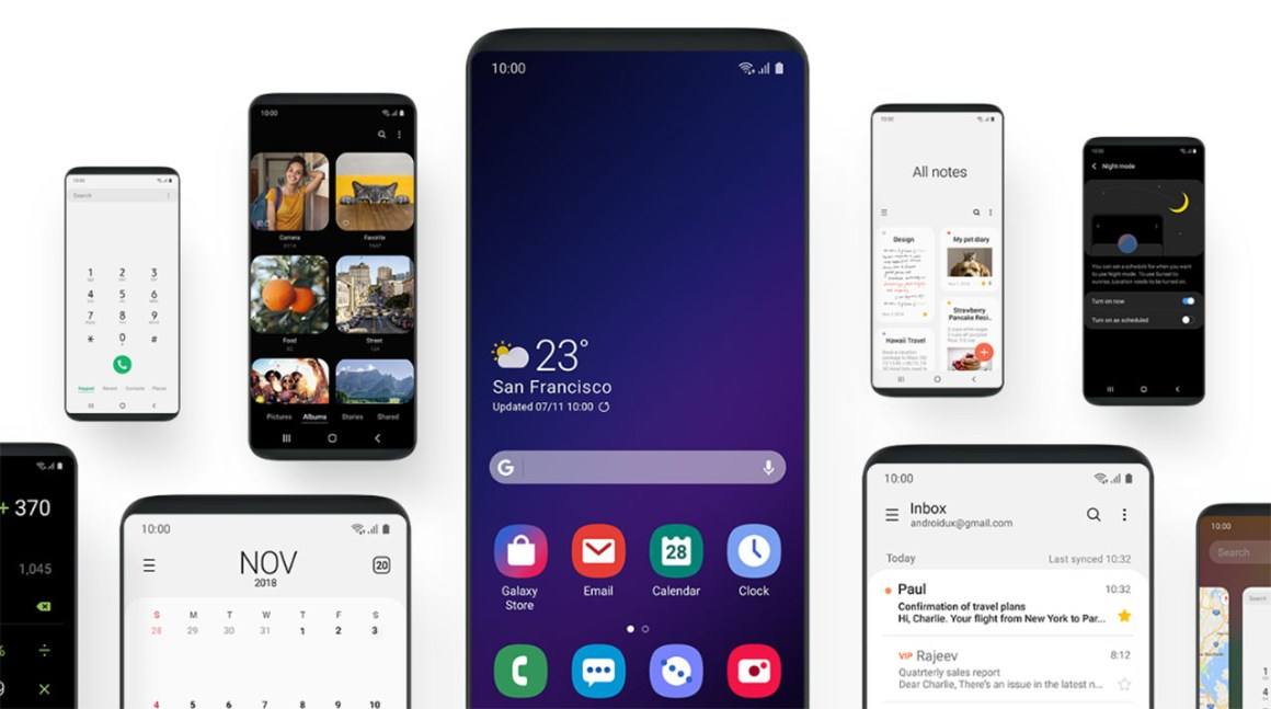 Android 9.0 пирог бета-программа Samsung One UI