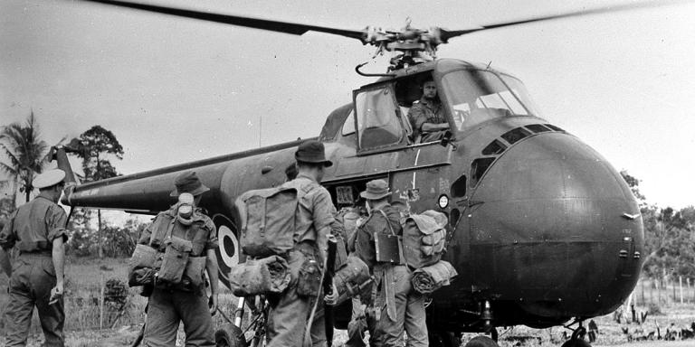 Image result for malayan emergency helicopter