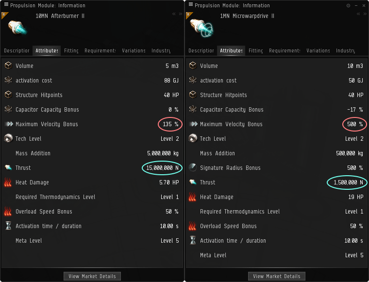 Screenshot of 1MN MWD and 10MN AB.