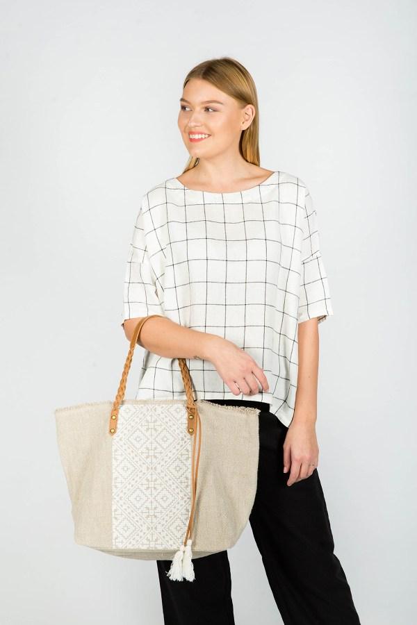 Jasmine Tote Bag White